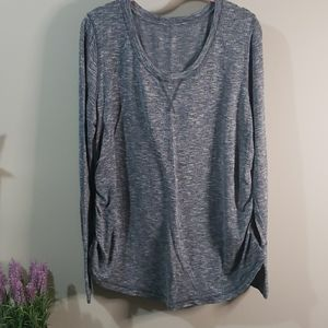 Maternity XL heathered teal sweater